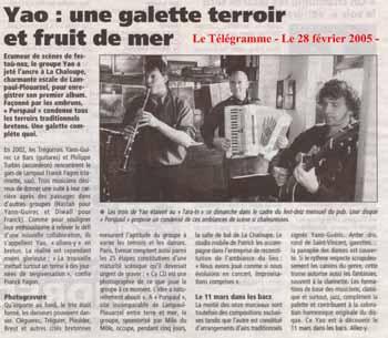 18 tarainn 28fevrier2005 Le Télégramme, Brest