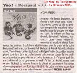 19 lemag 9mars2005 Le Mag du Télégramme (09/03/05)